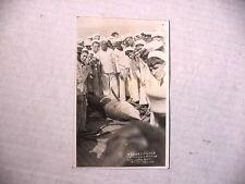 US Navy Texas Sailors  Catch 15 foot SHARK ~ WWI Era Real Photo Postcard UNUSED