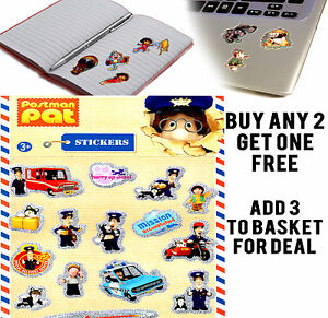 POSTMAN-PAT-OFFICIAL-ACTIVITY-STICKER-STICKERS-CRAFTS-KIDS-ROOM-BOOK-LAPTOP