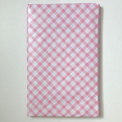 Printemps Pâques Vinyle Nappe souple rose ou bleu diagonale Gingham Check Assistant SZ
