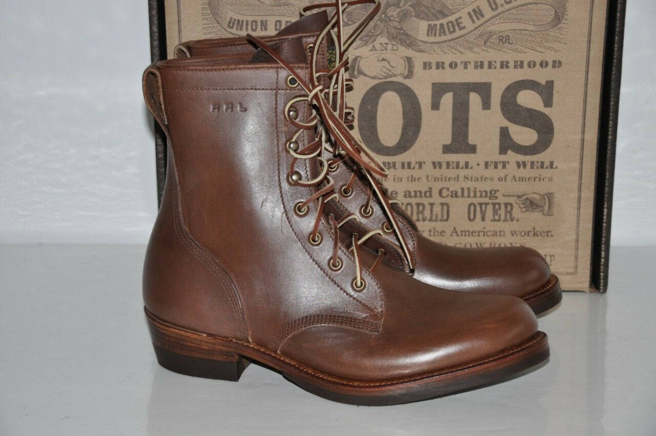 Ralph Lauren RRL Varick Made in USA Leather Ankle Boots by Julian