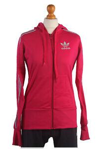 Adidas-Vintage-Retro-al-aire-libre-Chandal-Chaqueta-Superior-Rosa-en-el-pecho-de-plata-39-034-SW1324