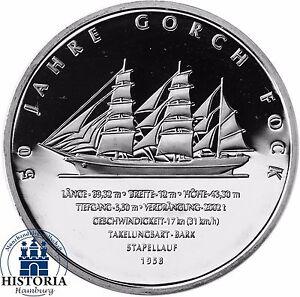 Deutschland-10-Euro-Gorch-Fock-II-2008-Silber-Gedenk-Muenze-Spiegelglanz