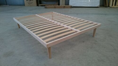 4ft6  Wood Double Bed Frame Orthopedic Slats Base Easy to Assemble Guest