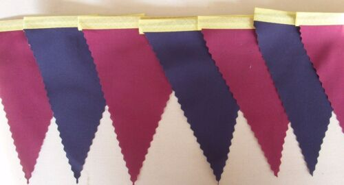 Marron /& Bleu Marine Football Mini Tissu Bunting Barcelone Chambre Décoration 3mt
