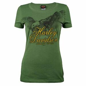 Harley-Davidson-HD-Womens-Sturgis-Soar-Eagle-Green-Short-Sleeve-T-Shirt