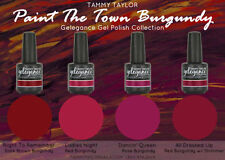 "Tammy Taylor Nails - ""PAINT THE TOWN BURGUNDY""  COLLECTION GEL POLISH COLORS"