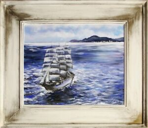 Painting-Port-Handmade-Oil-Painting-Picture-Oil-Ships-Frame-Pictures-G15479