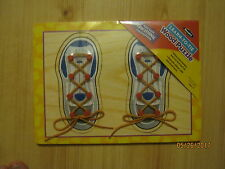 New Learn to Tie Wood Puzzle, Roseart Brand, Learn to tie shoes