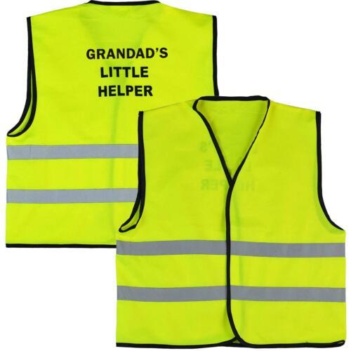 Kids Grandad Little Helper HI VIS Gilet Vélo Sécurité Protection Enfant Gilet