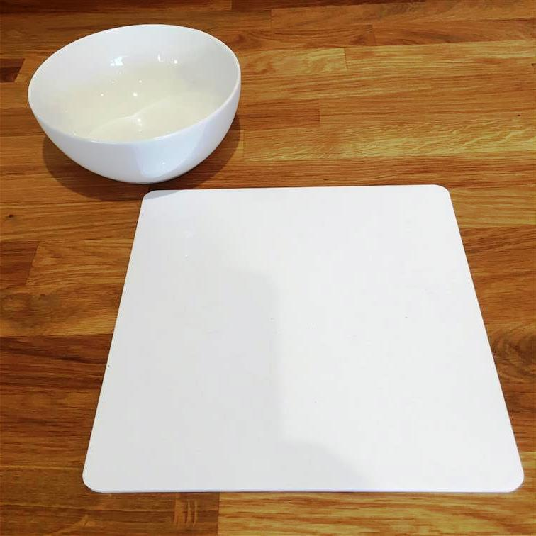 Square Shaped Weiß Gloss Acrylic Placemats, Sets 4 6 8, Größe 9  or 12