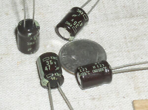 25 x 47uF 16V Radial Electrolytic Capacitor 4 x 7 mm