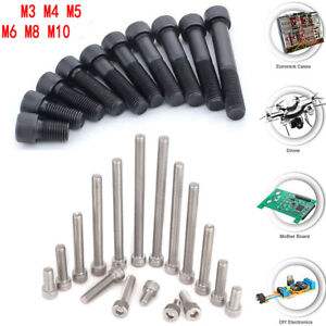 10X-M2-M3-M4-M5-M8-Alloy-Steel-Stainless-Allen-Hex-Socket-Cap-Head-Screw-Bolt