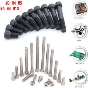 10X M2 M3 M4 M5 M8 Alloy Steel / Stainless Allen Hex Socket Cap Head Screw Bolt