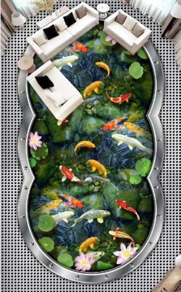 3D Blaume Fisch Wasser 995 Fototapeten Wandbild Fototapete Bild Tapete Familie