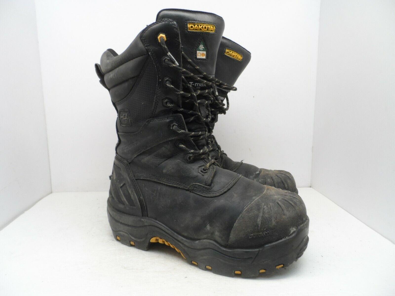 DAKOTA Men's 8901 Composite Toe Composite Plate HD3 Dial WP Boots Black 11M