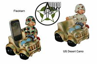 Funny Mobile Phone Holder Decor Soldat German Army Jeep Fun Division