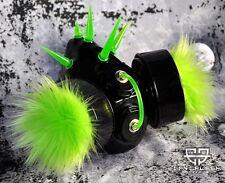 Cryoflesh UV Reactive Fur & Spike Cyber Goth Rave Industrial EBM Emo Gas Mask