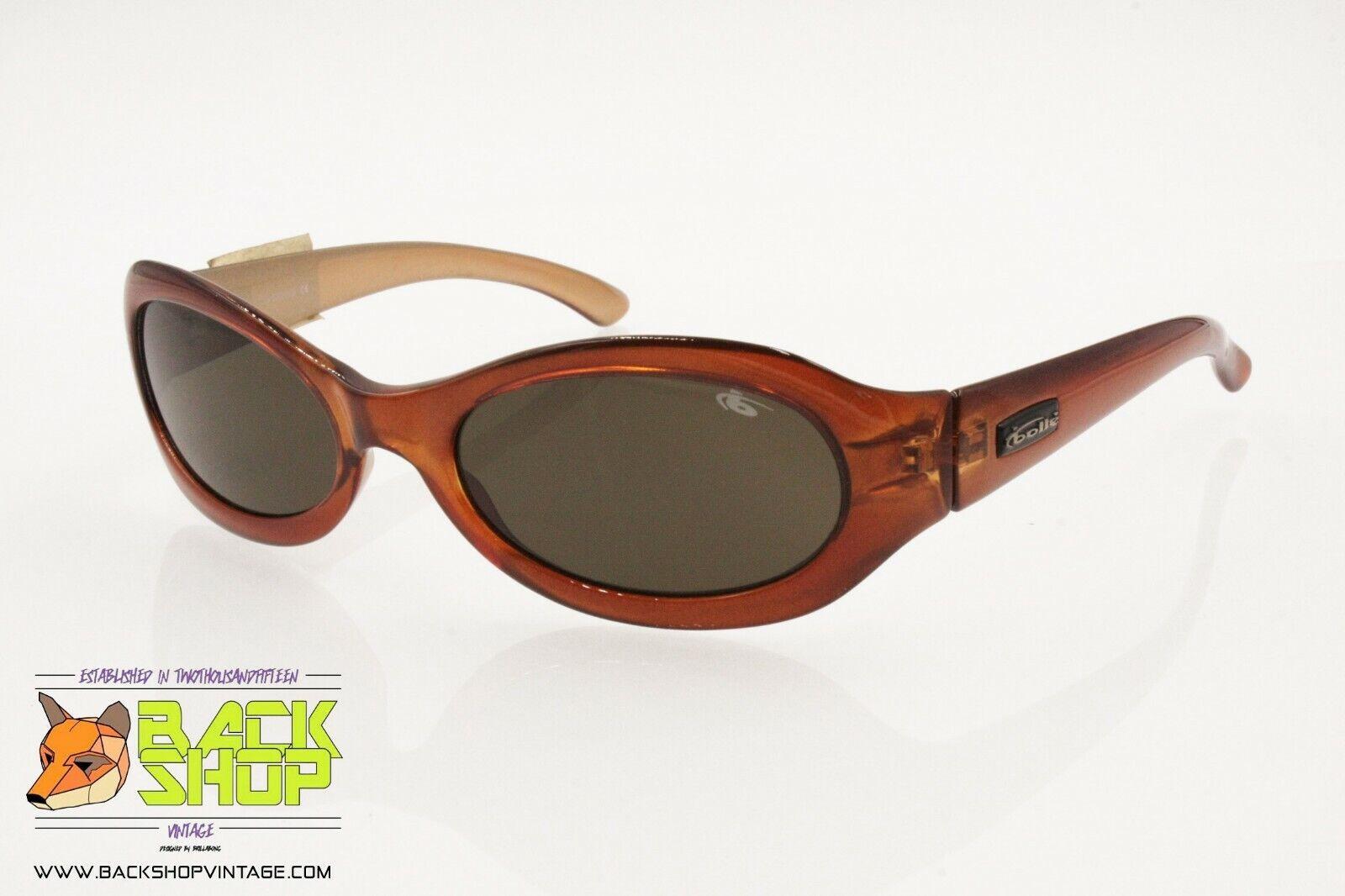 Bolle 'Vintage Orange Oval Sunglasses, TRASLUCENT Coloration, NEW OLD STOCK-show original title