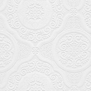 Lacy-Ornate-Medallions-Victorian-Paintable-Wallpaper-48932-per-Double-Roll