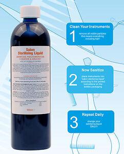 Details about Salon Sterilising Disinfectant Solution Germicide 500ml 473  16 for Barbicide jar