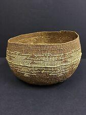 Antique American Indian Hupa Karuk Yurok Basketry Food Mush Bowl