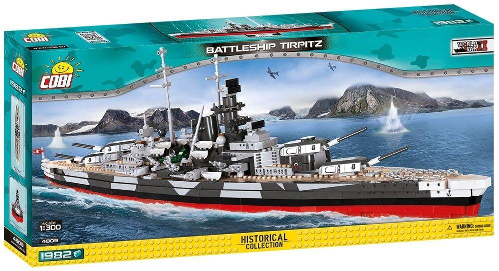 COBI Battleship Tirpitz SET  4809 (1982 Pcs.) NEW, World War II, Small Army