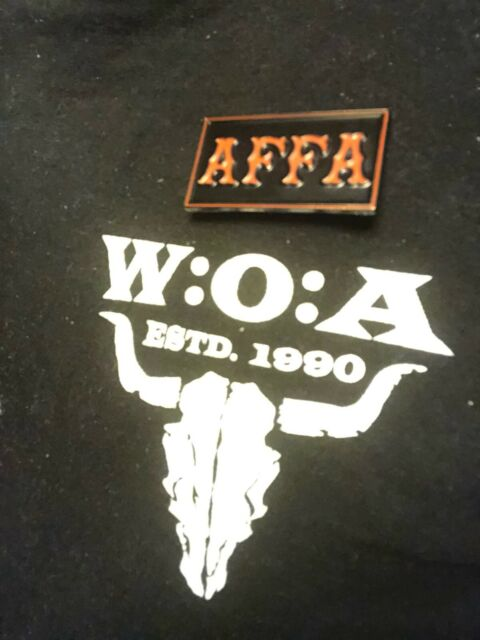 AFFA vest patch Pin Badge Support 81 Nomads AFFA 1% ER Hells Angels Biker's pin