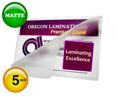 Hot Laminating Pouches 2-5//8 x 3-7//8 Military Card 5 Mil Matte//Matte pk of 100