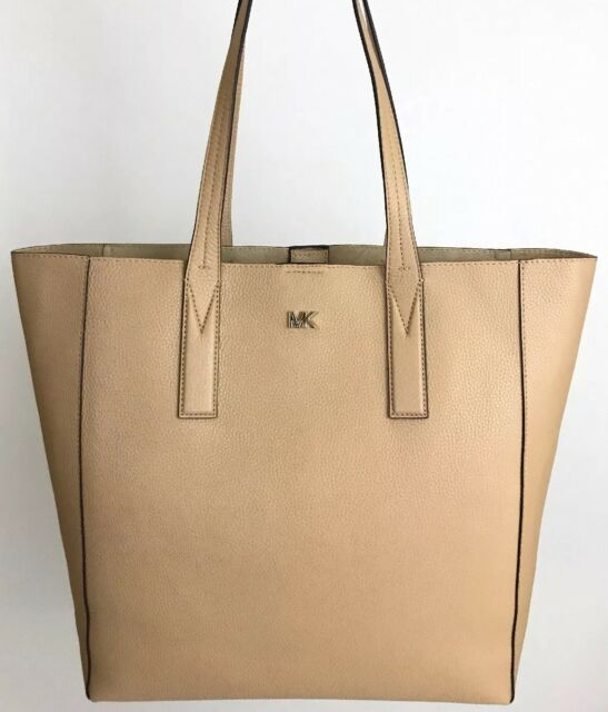 63bf739d4efa Michael Kors Junie 30T8TX5T3L LG Leather Shoulder Tote Bag Butternut ...
