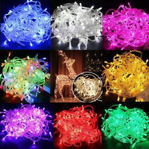 100-LED-String-Fairy-Lights-Clear-Wires-Party-Wedding-Xmas-Dorm-Room-Decor-10M
