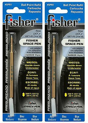 TWO Fisher SPR Series Blue Ink / Medium Point Refills #SPR1