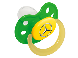 Silikon Babynova Größe1 B66953249 Mercedes-Benz Baby Schnuller grün Kunststoff