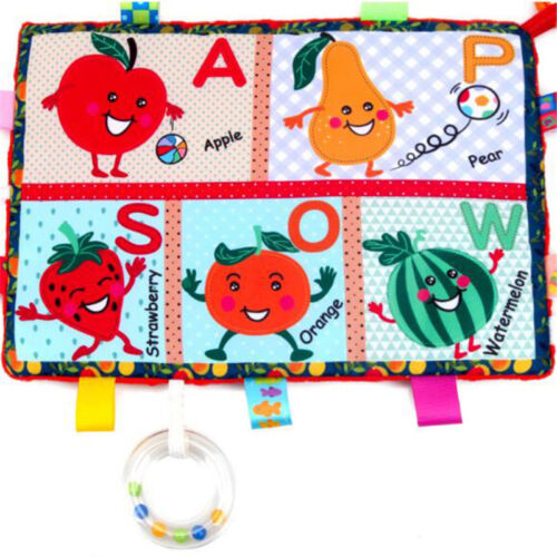 Baby Toys Soft Cloth Books Rustle Sound Teether Clip Crib Bed Hanging Toys D