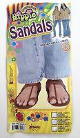Generation Hippie Sandals Unisex Halloween Costume Shoes Adult Size M Medium