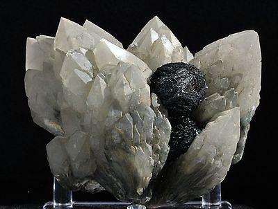Stunning Black Hematite & Quartz Mineral Specimen From Inner Mongolia China!