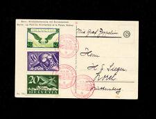 Zeppelin Sieger 94 1930  Bern-Basel Flight  Gorgeous Airmail franking SLH ZF 139