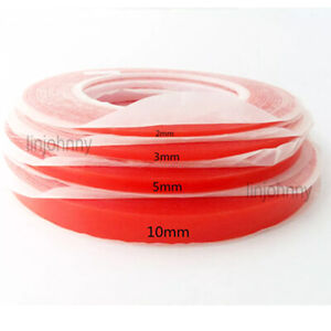 25M Clear Heat Resistant Double Sided Tape Rolls Transparent Strong Adhesive