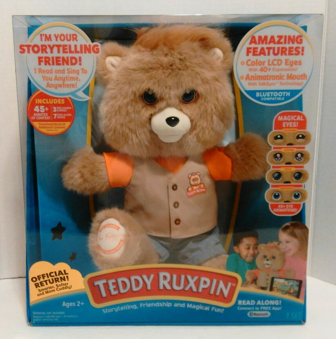 2017 Teddy Ruxpin Official Return of the Storytime & Magical Bear blutooth NEW