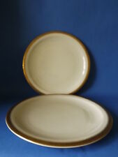 TWO KRAUTHEIM - SELB BAVARIA PLATES - CREAM & GILT IMMACULATE 250mm