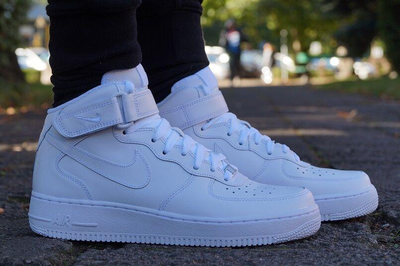 Neu Schuhe NIKE AIR FORCE 1 Weiss MID High Top Sneaker Weiss 1 Turnschuhe 315123111 07fa6c