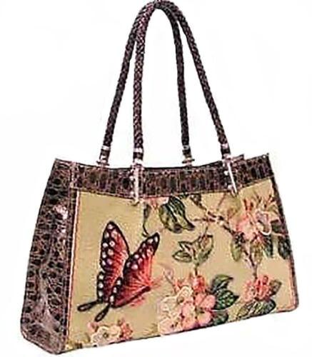 Mellow World Butterfly Green Fabric Handmade Purse//Handbag HB1142