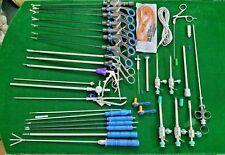 34pc Laparoscopic Surgery Set 5x330mm Laparoscopy Endoscopy Surgical Instruments