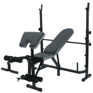 Home-Fitness-Dumbbell-Weight-Bench-Barbell-Lifting-Folding-Adjustable-Bench-US