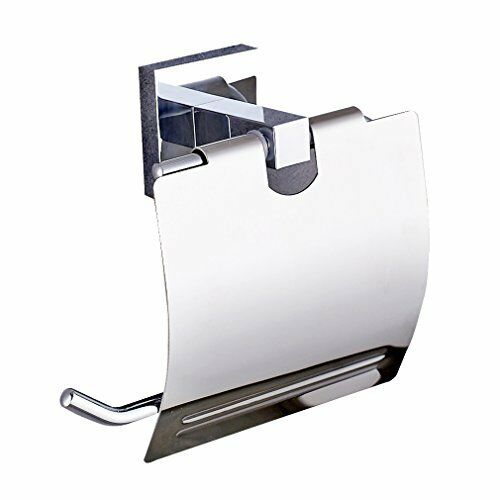 Auralum® Toilet Roll Holder Holder Holder with Cover Stainless Steel Wall Mount 2ab0ab