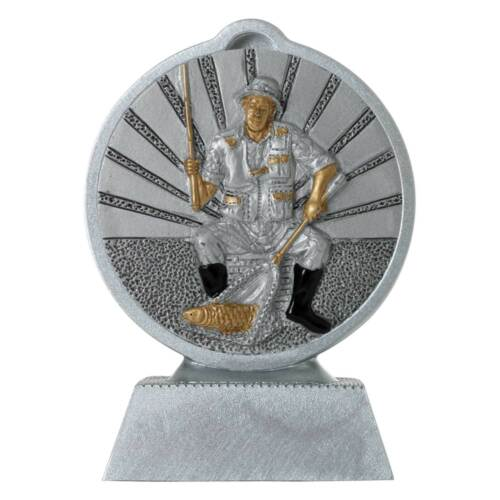Pokal mit 3D Motiv Angler Angeln Fischen Serie Ronny 10,5 cm hoch