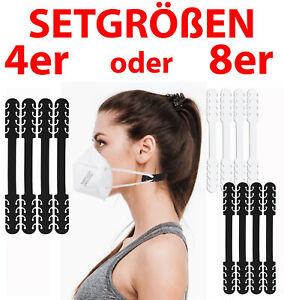 4 od. 8 Maskenhalter Ohrenschoner f. Mundschutz Masken Halter Silikon Tragehilfe