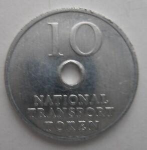 10p National Transport Token Great Britain Aquarius
