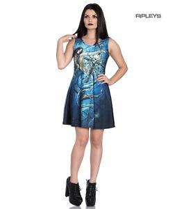 Hell-Bunny-Alchemy-Gothic-Blue-Mini-Skater-Dress-SEDNA-Mermaid-Siren-All-Sizes