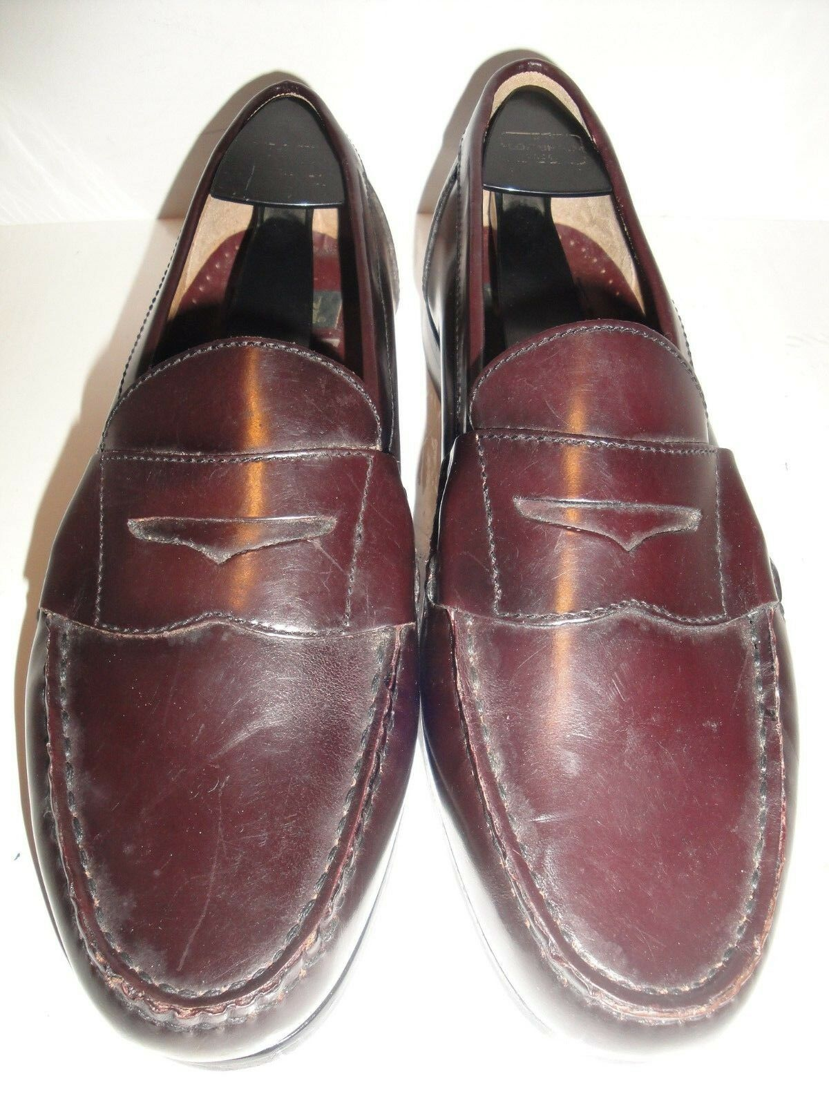 Nunn Bush Burgundy Leather Penny Loafer Men's shoes Size 8.5M