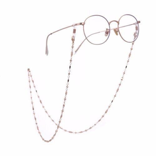 Fashion Rectangle Eyeglasses Chain Secure Holder Link Chain for Women Girls